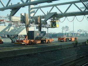 Rotterdam - Europe Container Terminals, terminal Maasvlakte, taken from Wikipedia, by user Quistnix, 2003